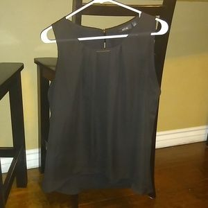 Black blouse with gold detail